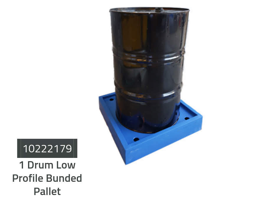 Low Profile Bunded Drum Pallets