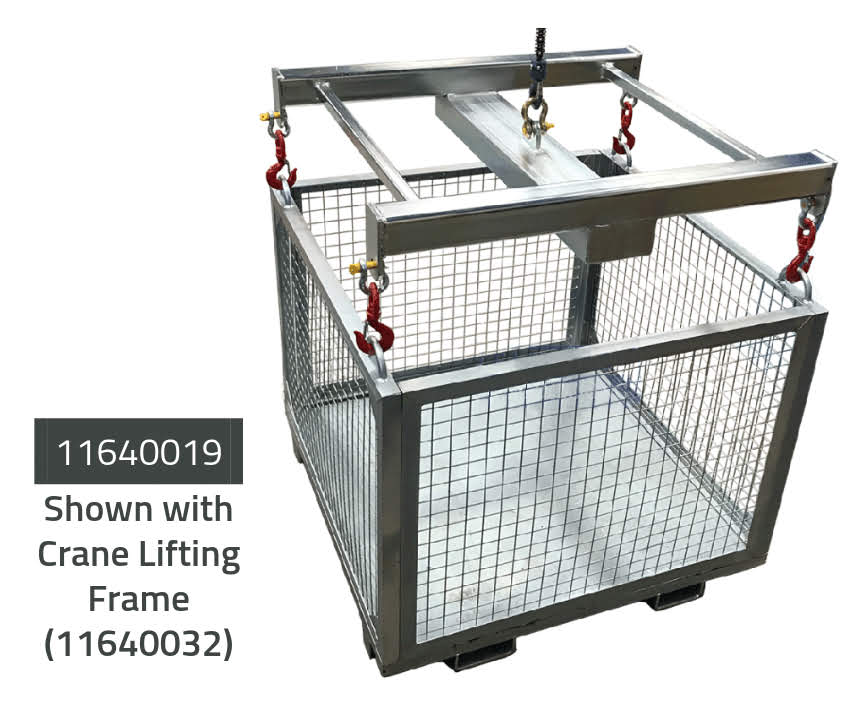 Goods Cage - Forklift & Crane Attachment