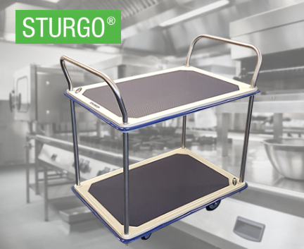 STURGO® Double Platform Trolley