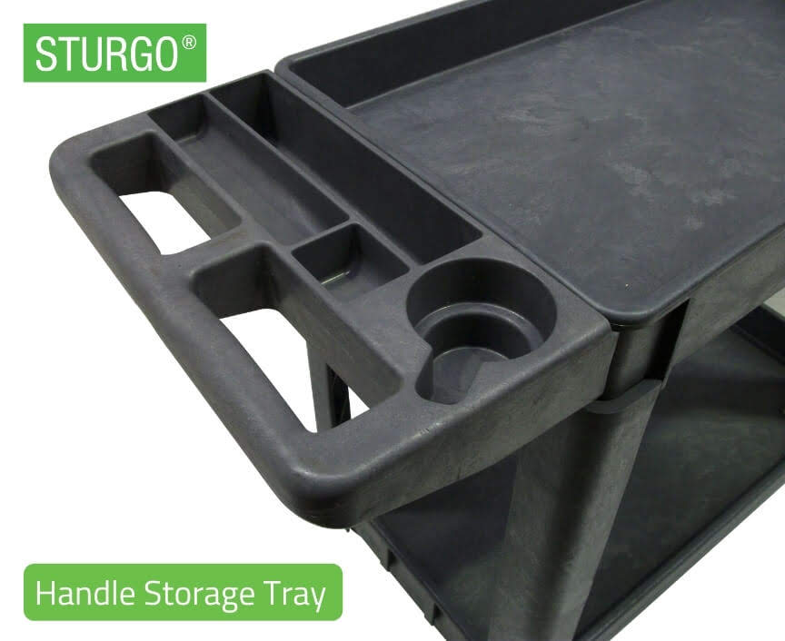 STURGO® Heavy Duty Utility Cart - Lipped Shelf