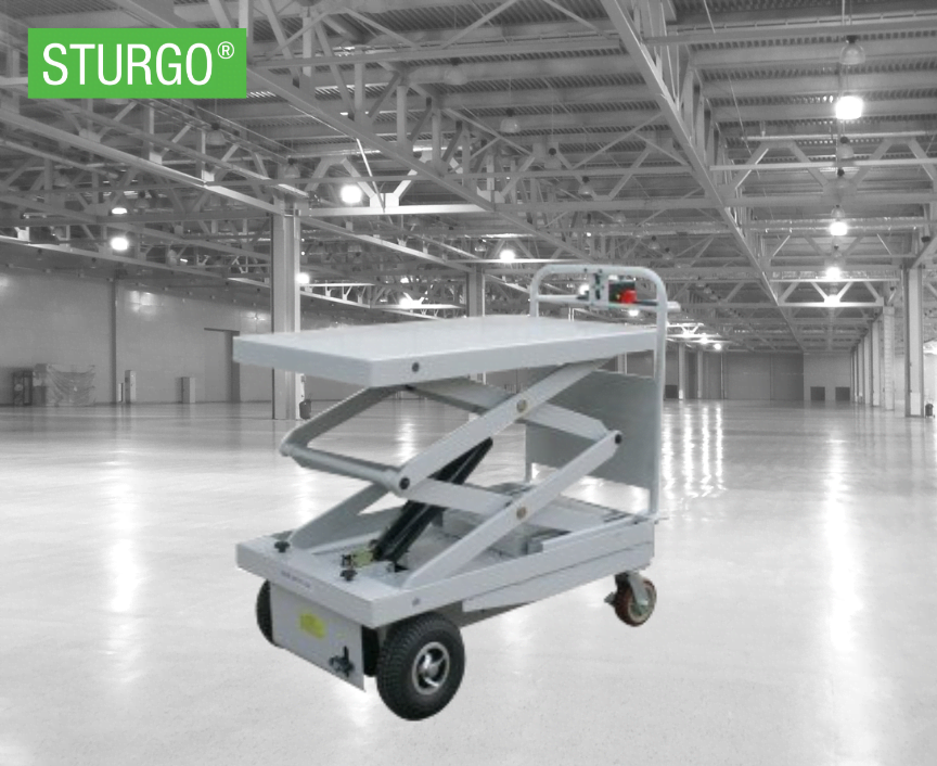 STURGO® Electric Powered Scissor Lift Trolley