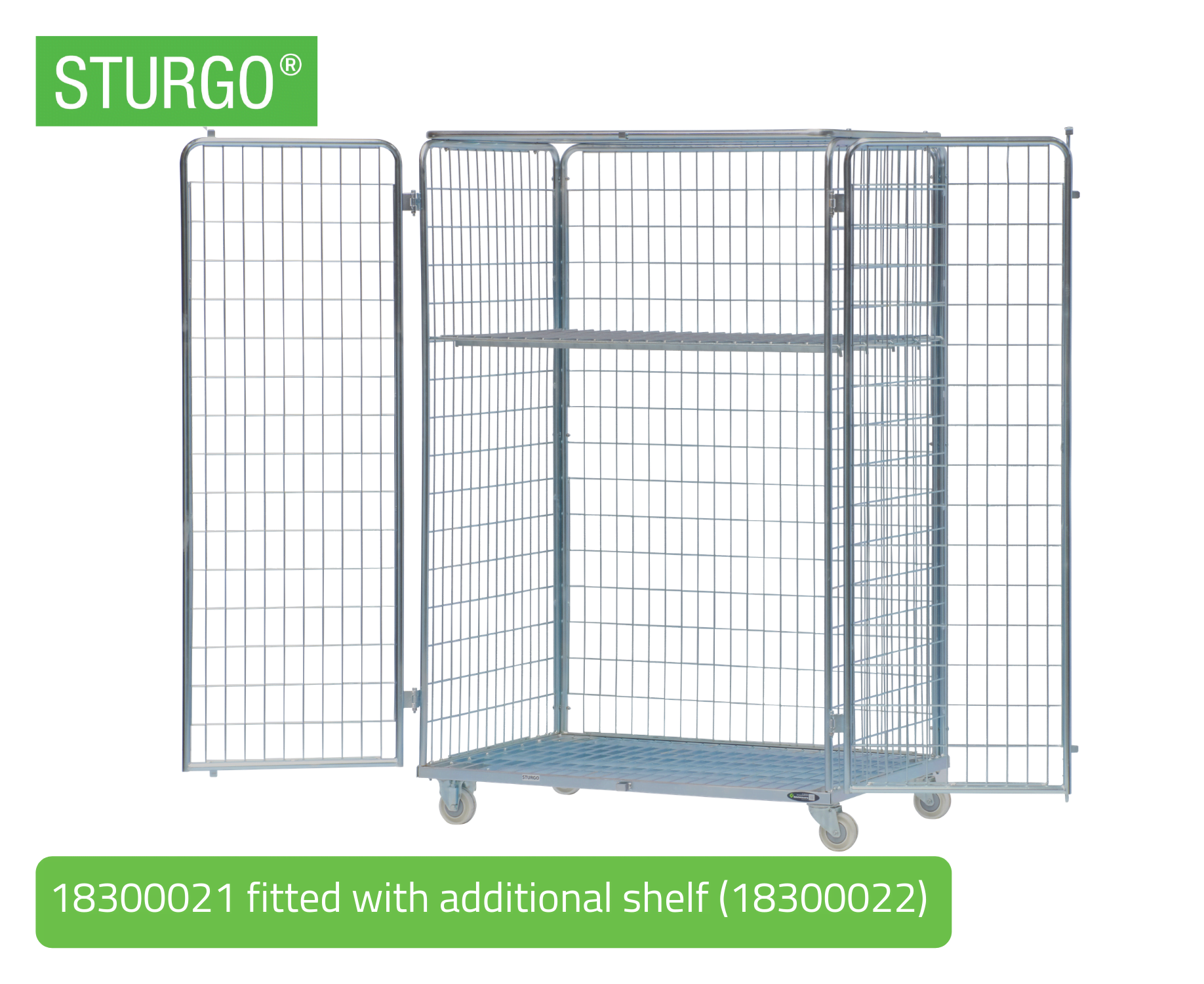 STURGO® Security Double Roll Cage Trolley