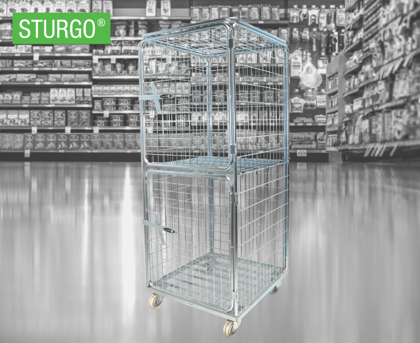 STURGO® Security Single Roll Cage Trolley