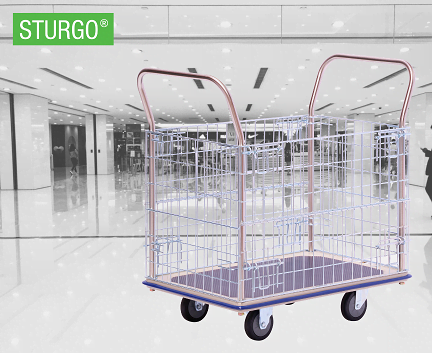 STURGO® Single Platform Trolley - Mesh Sides