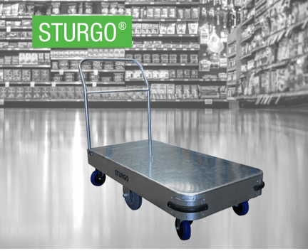 STURGO® 6 Wheel Stock Trolley - Single Platform