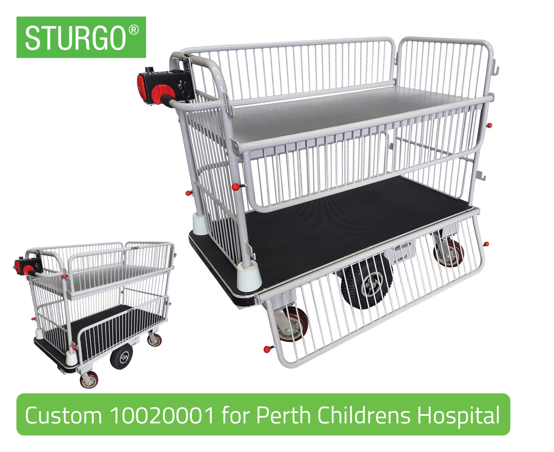STURGO® Electric Platform Trolley with Centre Drive