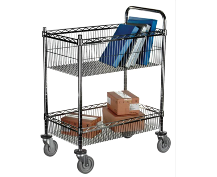 Compact Chrome Basket Trolley