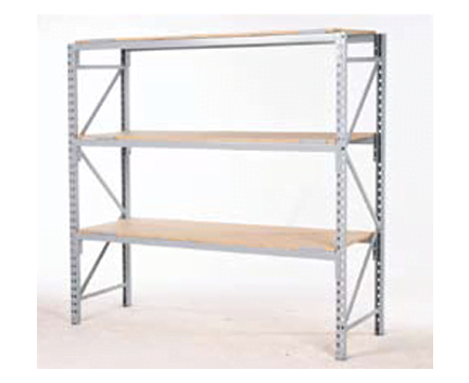 Longspan Shelving With Timber Shelves