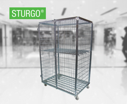 STURGO® Security Double Door Roll Cage Trolley
