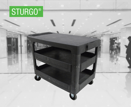 STURGO® Heavy Duty Utility Cart - Flat Shelf
