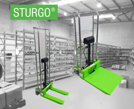 STURGO® Manual Stacker with Adjustable Forks