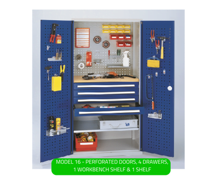 WERKS® Drawer Cabinets - Perforated Panel Doors