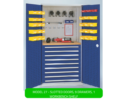 WERKS® Drawer Cabinets - Slotted Panel Doors