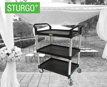STURGO® 3 Shelf Service Cart
