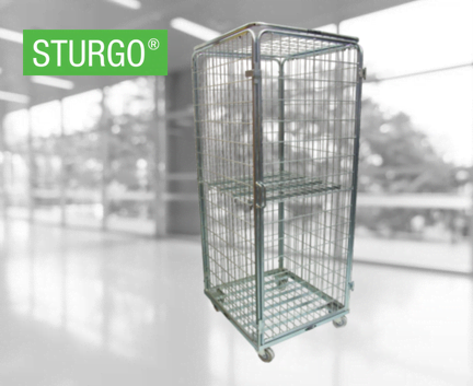 STURGO® Security Single Door Roll Cage Trolley