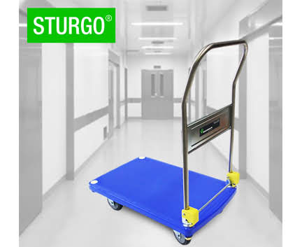 STURGO® Plastic Single Platform Trolley - Folding Handle