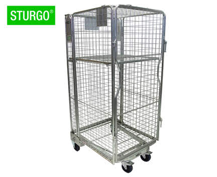 STURGO® Nestable Stock Roll Cage Trolley