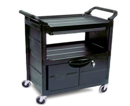 Rubbermaid Utility Cart With Drawers/Doors