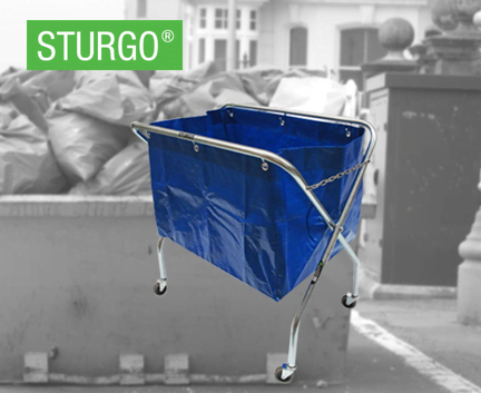 STURGO® Waste Trolley With Bag