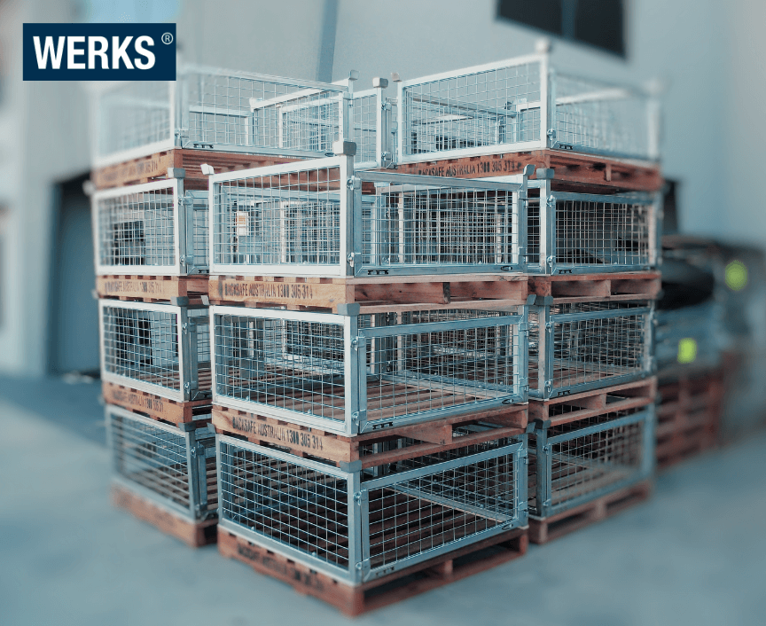 WERKS® Steel Bolt On Cage with Hardwood Pallet