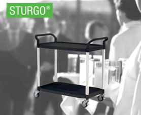 STURGO® 2 Shelf Service Cart