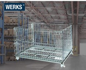 WERKS® Collapsible Mesh Stillage Cage