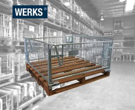 WERKS® Steel Clamp On Cage with Hardwood Pallet