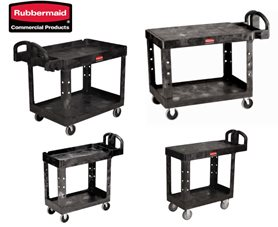 Rubbermaid® Black Heavy Duty Cart