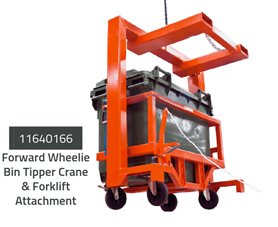 Wheelie Bin Tipper Forklift & Crane Attachment