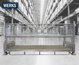 WERKS® Galvanised Pallet Cage - Double Width